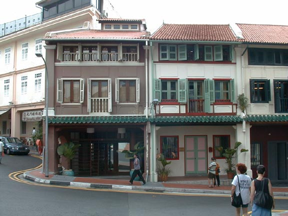 Restored Shophouses On Club Street Singapore