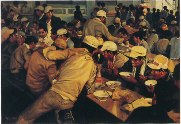 Workers in a Canteen