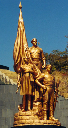How does this golden surfaced monument relate to zimbabwean culture